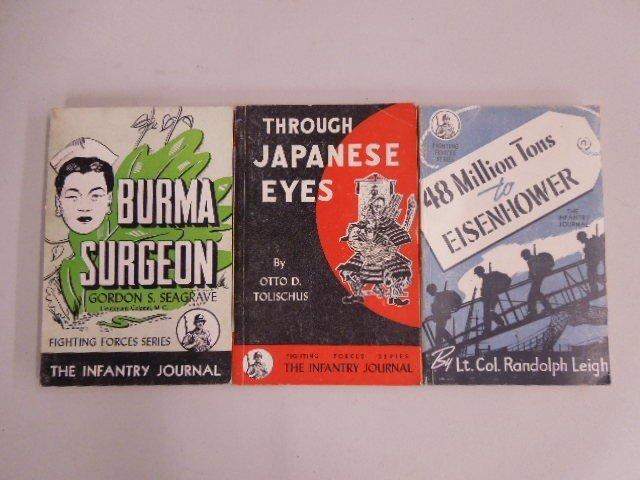3 Vintage Paperback Military Books