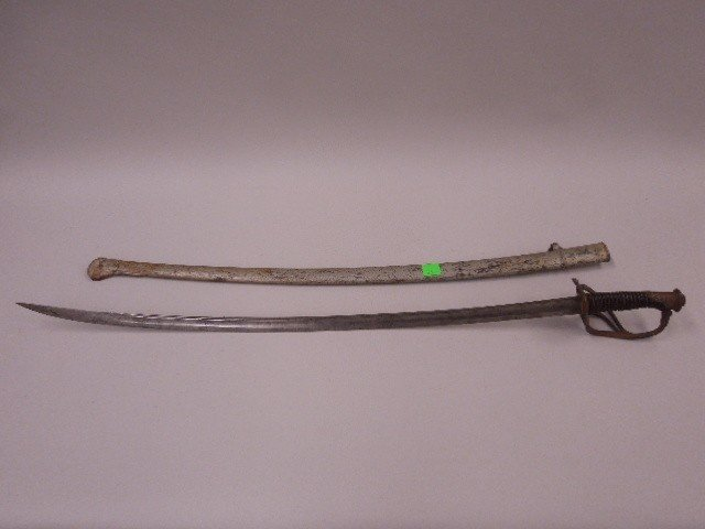 French Army Calvary Sabre & Scabbard, Model 1822