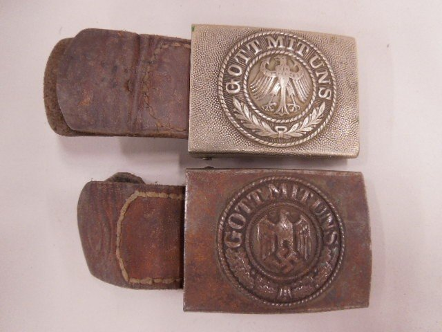 Pr of WW II German Army Belt Buckles