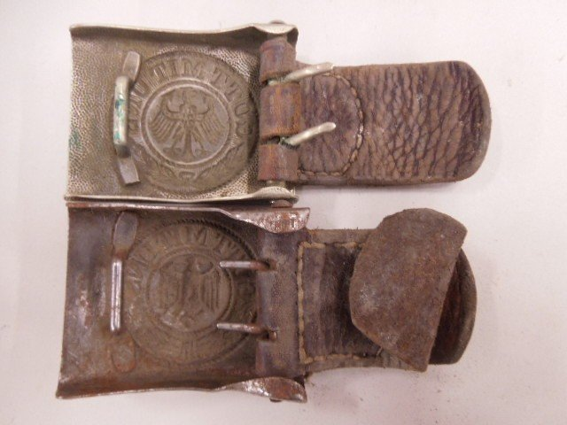 Pr of WW II German Army Belt Buckles - 2