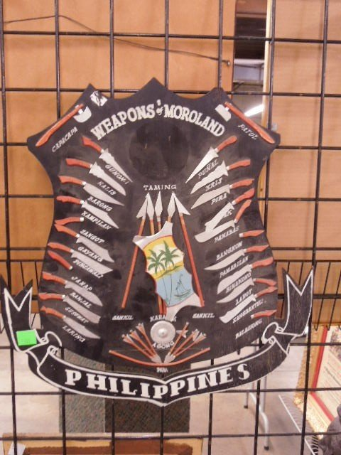 """Weapons of Moroland-Philippines"" wooden Display"