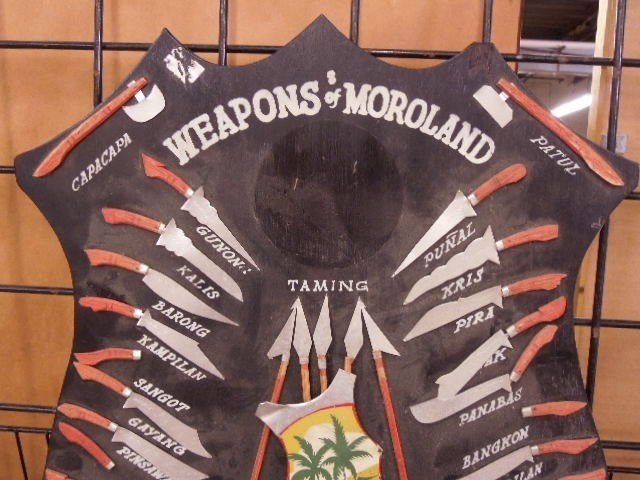 """Weapons of Moroland-Philippines"" wooden Display - 2"