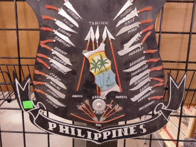 """Weapons of Moroland-Philippines"" wooden Display - 3"