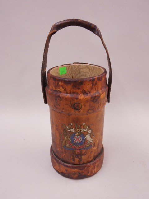 Antique British Leather Fire Bucket