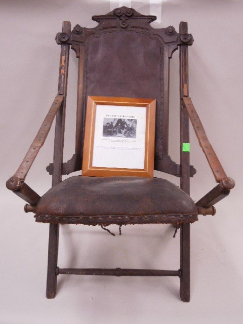 Civil War Camp Chair Used By Union Gen Sheridan