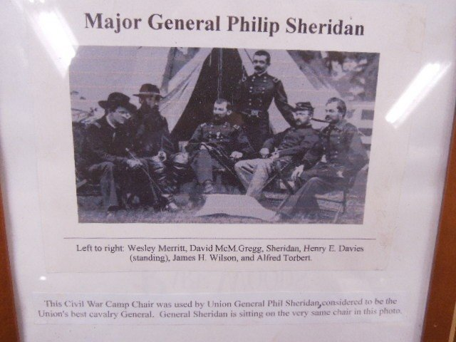 Civil War Camp Chair Used By Union Gen Sheridan - 2