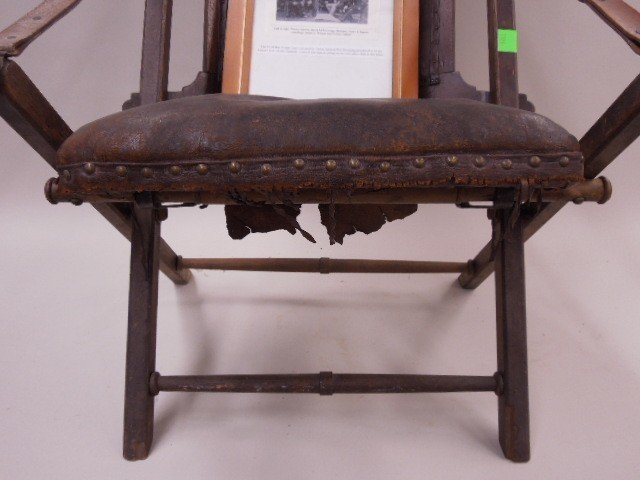 Civil War Camp Chair Used By Union Gen Sheridan - 4