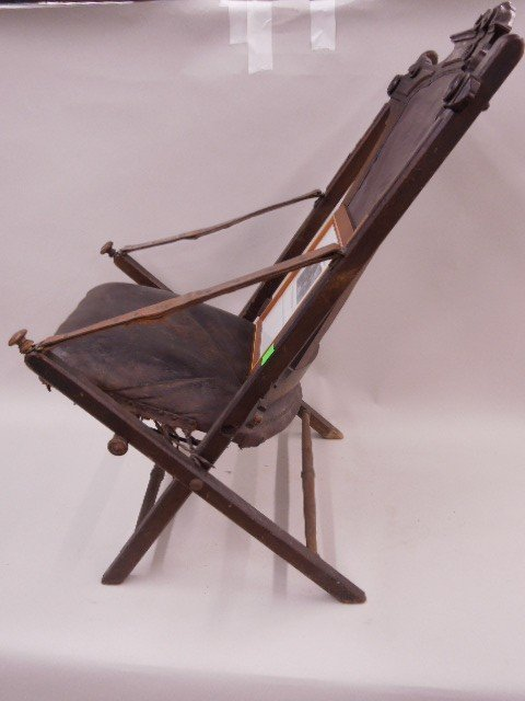Civil War Camp Chair Used By Union Gen Sheridan - 6