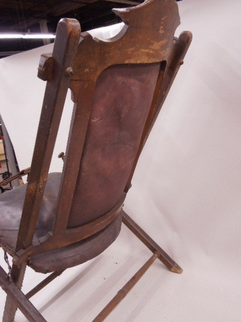 Civil War Camp Chair Used By Union Gen Sheridan - 7