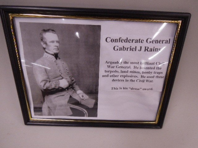 Confederate General Gabriel James Rains Sword - 2