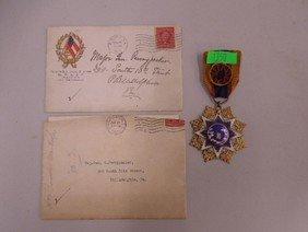 Military Medal & Pennypacker Letters