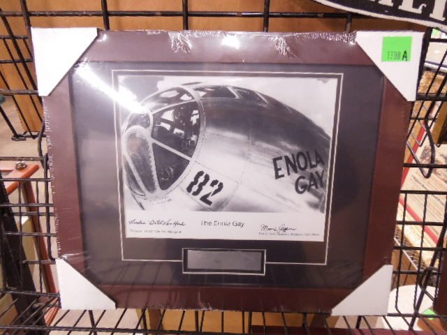 "Franklin Mint ""Enola Gay\"" Signed Photo"