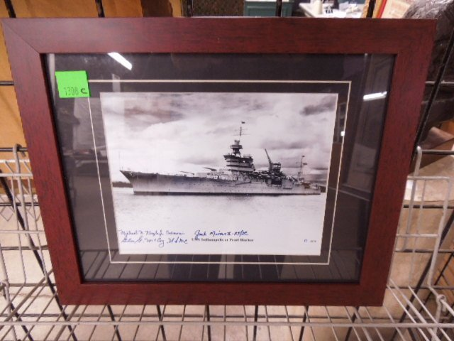 """Franklin Mint """"USS Indianapolis Pearl Harbor"""" Photo"""