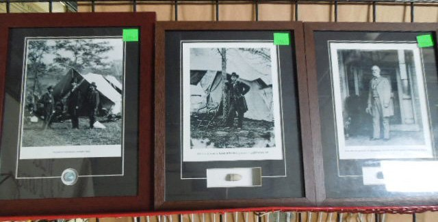 3 Franklin Mint Framed Civil War Era Relics