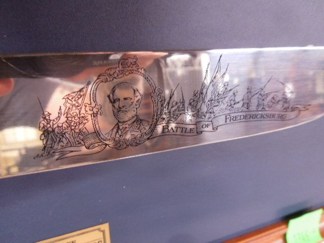 Franklin Mint Battle of Fredericksburg Comm Knife - 4