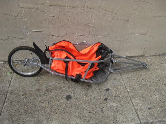 Sidecar bicycle trailer