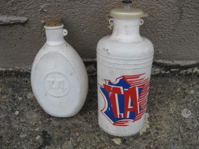 70's T.A. Specialties water bottle & hip flask lot