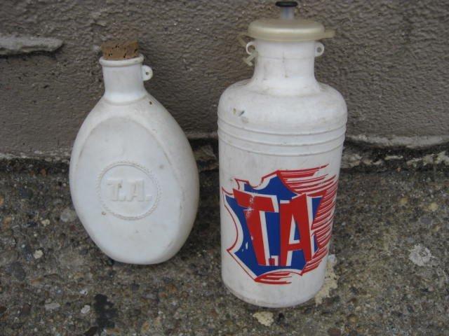 70's T.A. Specialties water bottle & hip flask lot