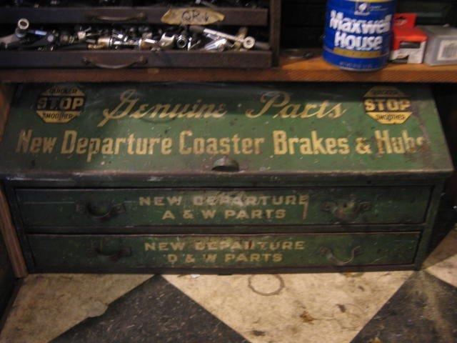 New Departure parts cabinet