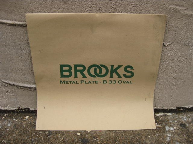 Brooks metal sign new in package - 2