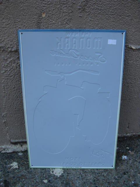 Reproduction Monark bicycle metal sign - 2