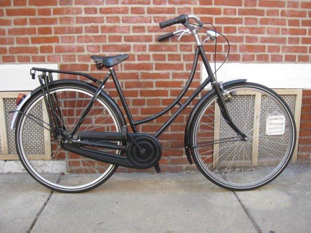 Ladies frame Dutch style bicycle.