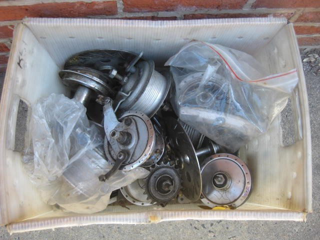 Lot of various drum brake hubs