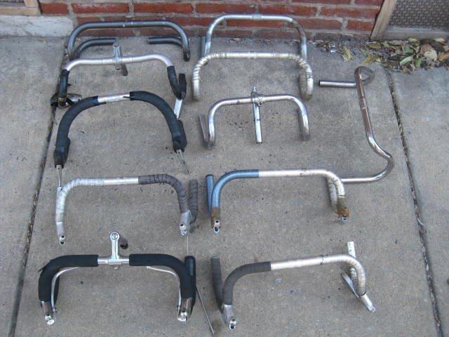Lot of 11 road bicycle drop handle bars