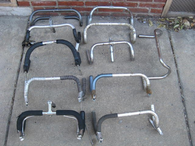 Lot of 11 road bicycle drop handle bars