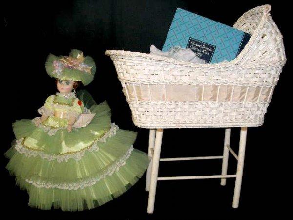 1001: Madame Alexander Doll With Crib