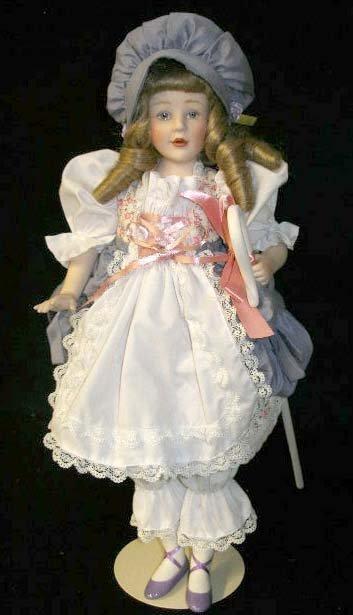 "1025: Franklin Heirloom Doll ""Little Bo Peep"""