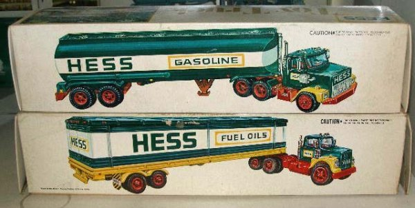 1050: Hess Toy Tanker Trucks (2) with battery operated