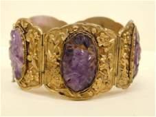 Vermeil  Amethyst Quartz Bracelet