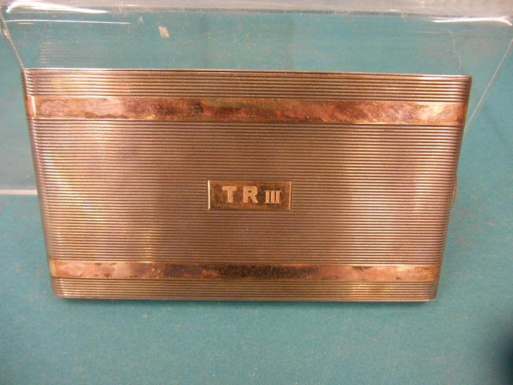 Sterling Silver & 14k Cigarette Case