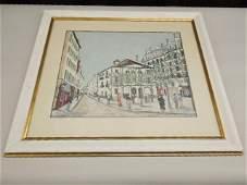 Vintage Maurice Utrillo Lithograph Print