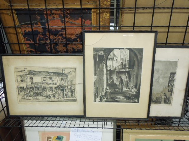 3 Earl Horter Signed Etchings