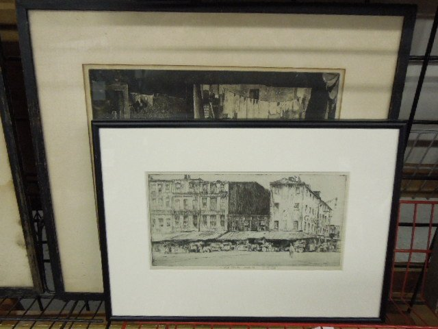 Two Earl Horter Signed Etchings