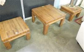 Mid Century Modern 3 Pc Table Set