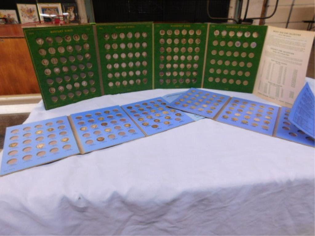 3 Whitman folders w/ 137 silver dimes