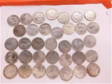 35 Morgan Silver dollars