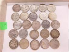 25 Morgan Silver Dollars