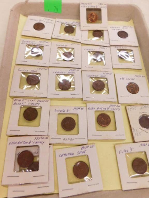 21 error pennies