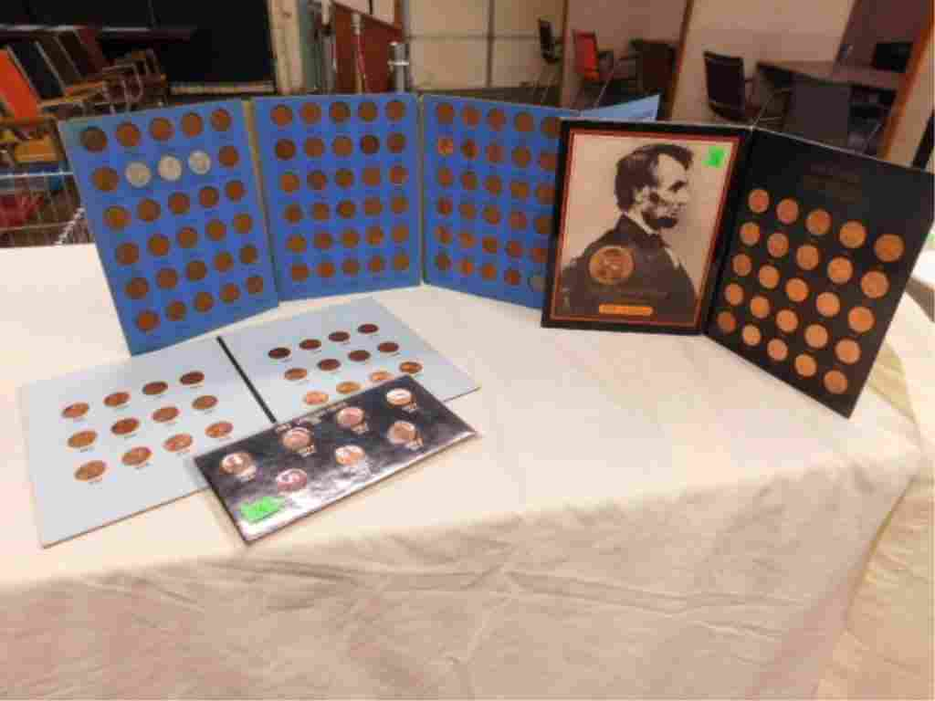 Lincoln cents in coin folders