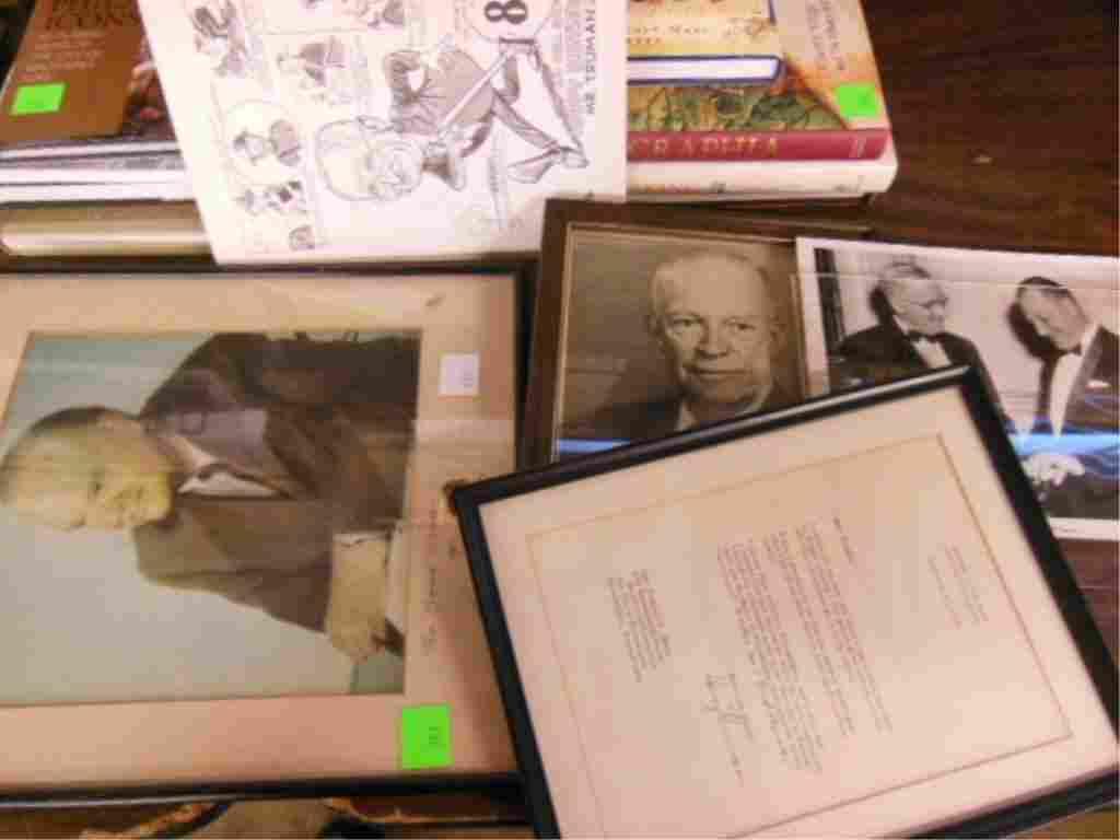 President Signed Photos & Letter