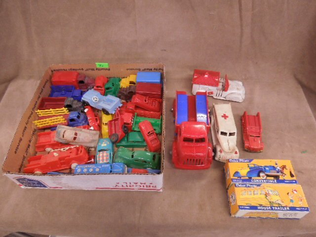Assorted Vintage Plastic Vehicles