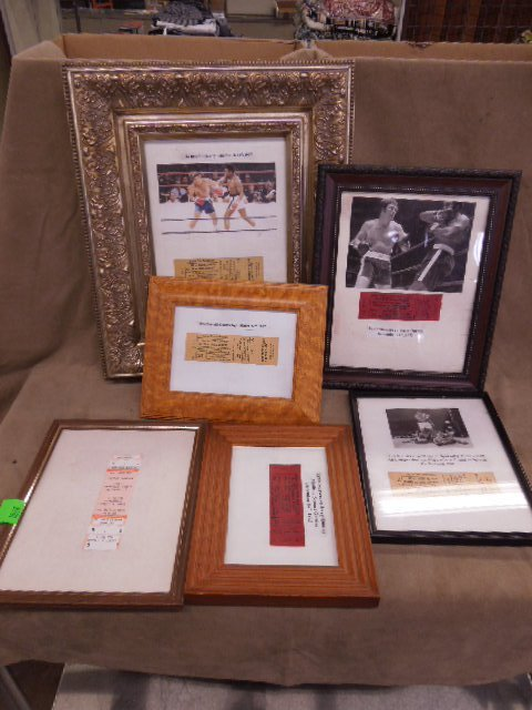 Lot Framed Arena Boxing Tickets