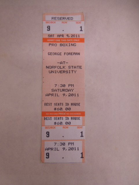 Lot Framed Arena Boxing Tickets - 2