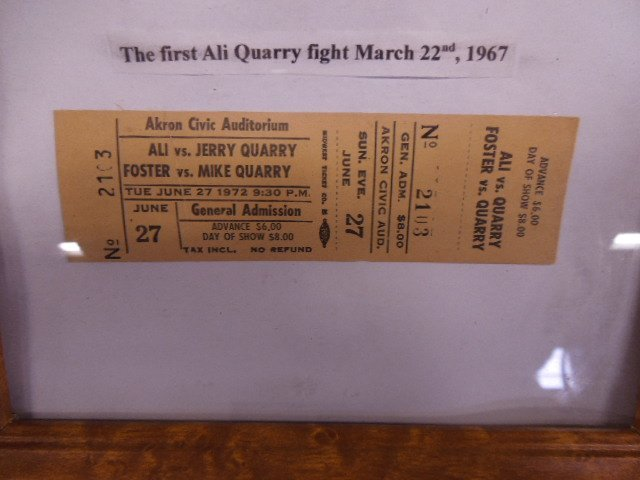 Lot Framed Arena Boxing Tickets - 5