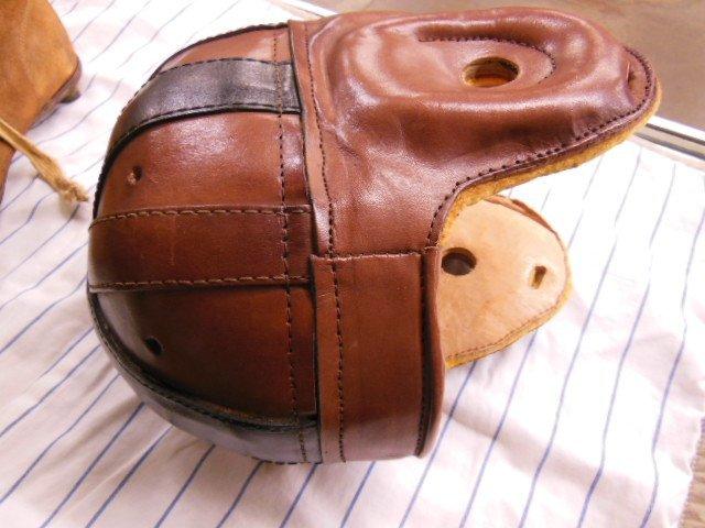Vintage Leather Helmet and Spikes - 2