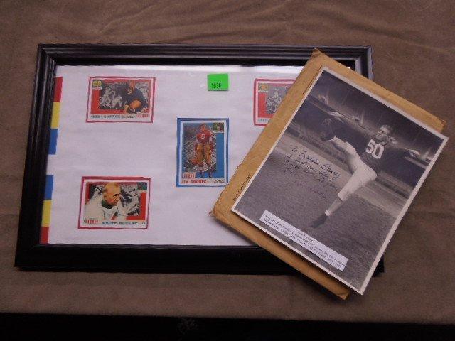 Framed 1957 Football Cards & Photo